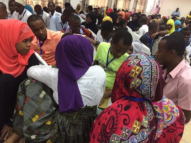 Discussion during the GLS in Zanzibar