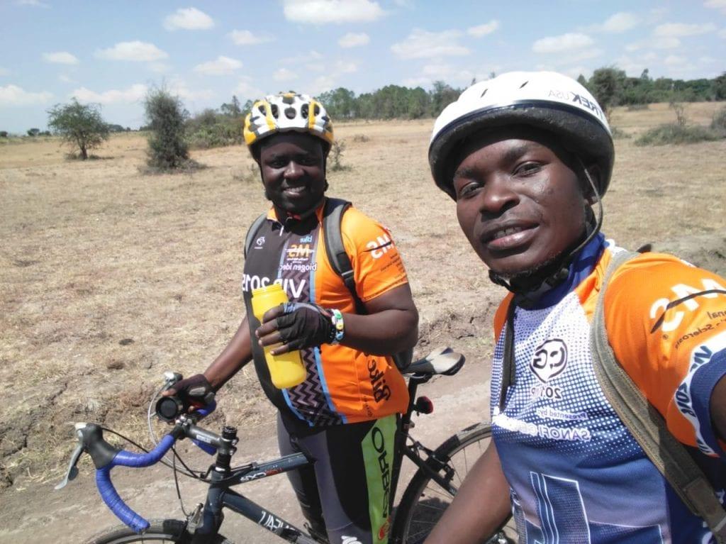 James Ouma training for cycling fundraiser