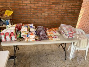 Food and clothes donations for UP Program in Honduras