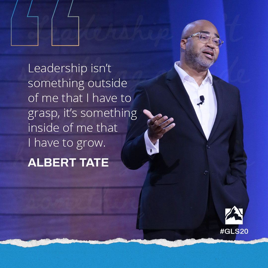 Leadership isn't something outside of me that I have to grasp, it's something inside of me that I have to grow