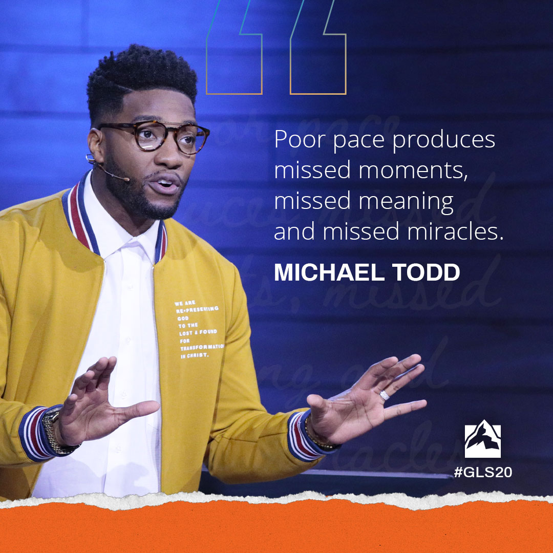 Poor pace produces missed moments, missed meaning, and missed miracles